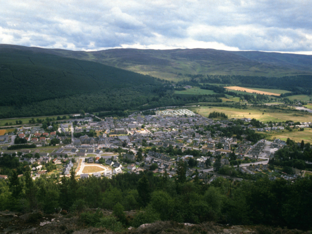 Ballater from the North