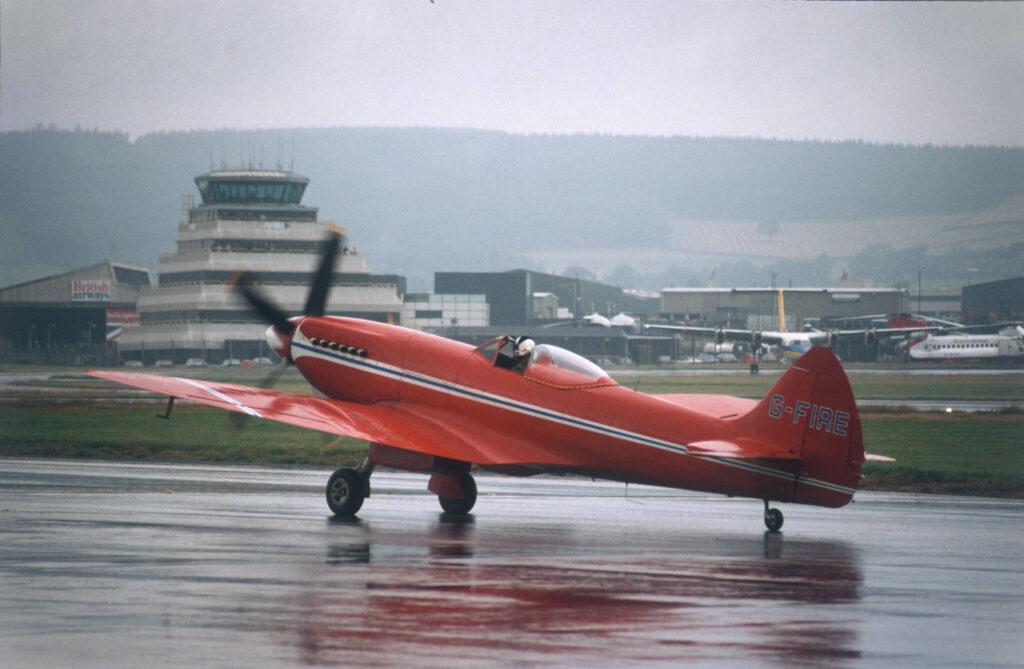 Spitfire Mk XIV G-FIRE at Aberdeen Airport