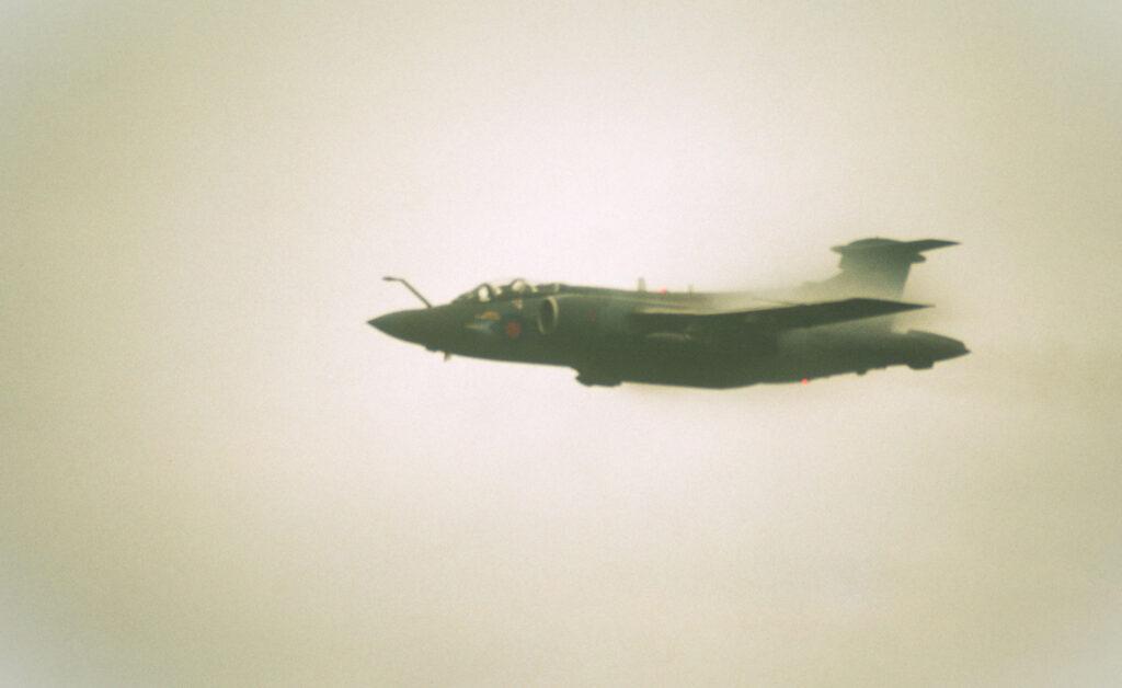Blackburn Bucanneer flypast at Aberdeen Airport