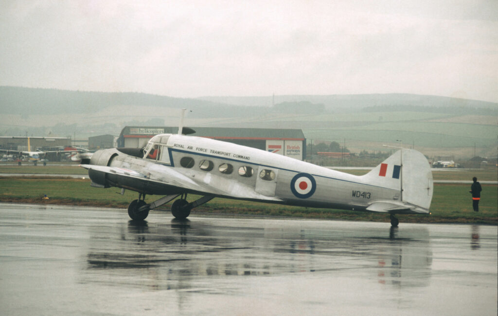 Avro Anson WD413 at Aberdeen Airport