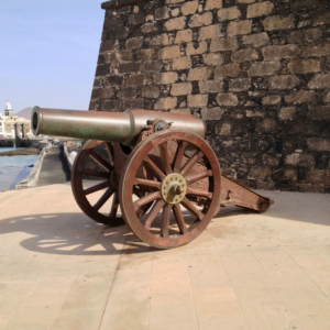 Cannon at Castillo de San Gabriel in Arrecife