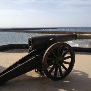 Cannon at Castillo de San Gabriel in Arrecife, Lanzarote