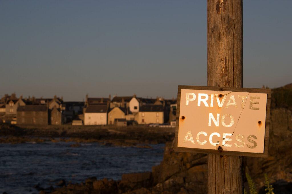 Private No Access Sign, Whitehills